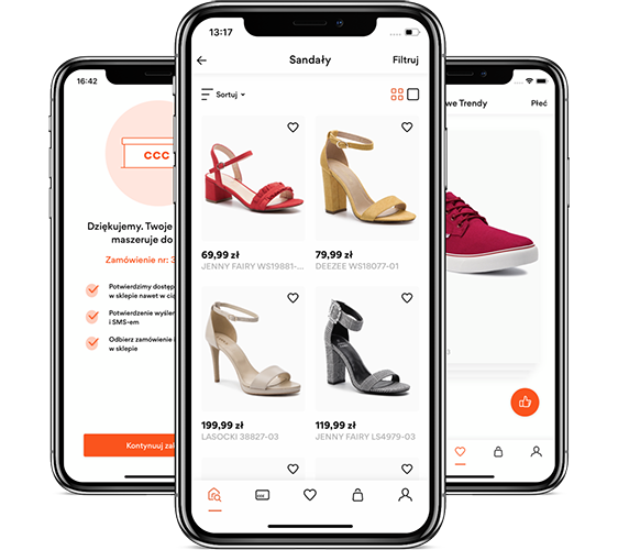 CCC mCommerce Mobile App Design