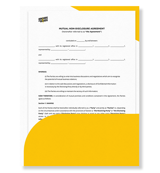 Non-Disclosure Agreement (NDA) Template for Software Development Projects filling in