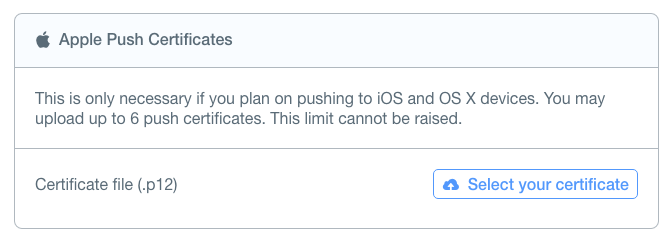 Parse Apple Push Notification Service Configuration