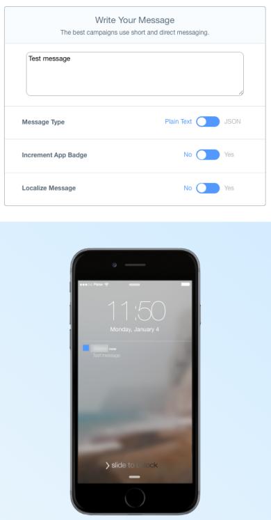 Parse notification form + mock