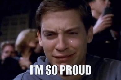 I'm proud..