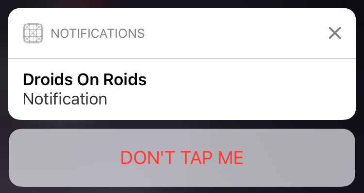 iOS 10 Notification Action