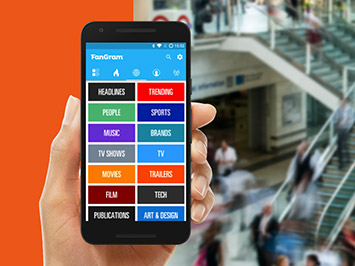 Fangram App - Made with cooperatin with Droids On Roids Mobile App Development Company