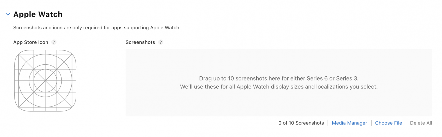 App Store Product Page Apple Watch section