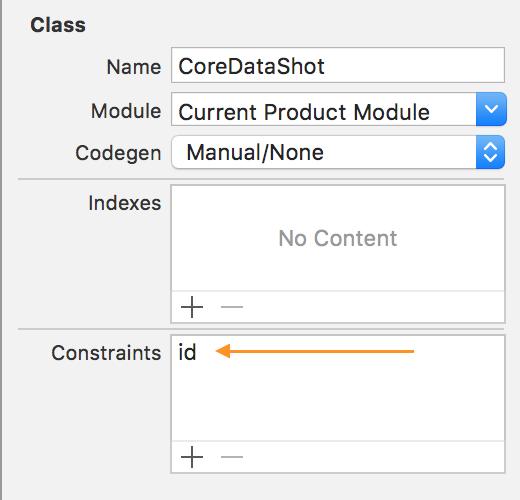 CoreData constraint
