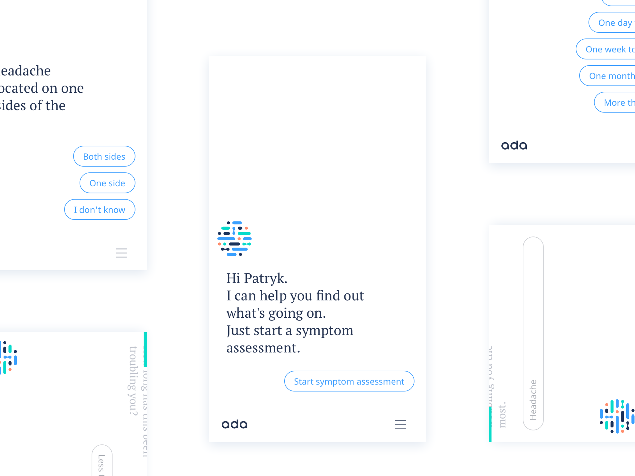 Conversational UI mobile app