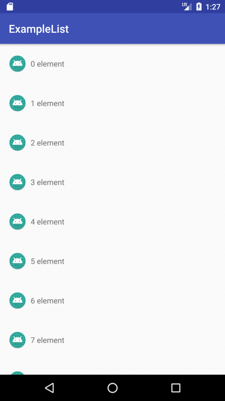 How to implement a RecyclerView - Example of a scrolling list with the use of RecyclerView