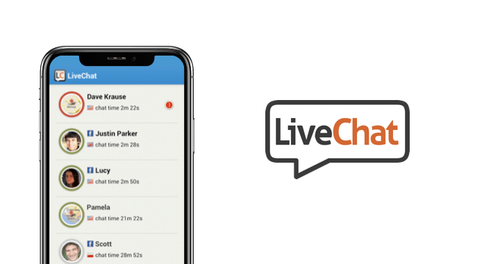 Live chat app for mobile messaging