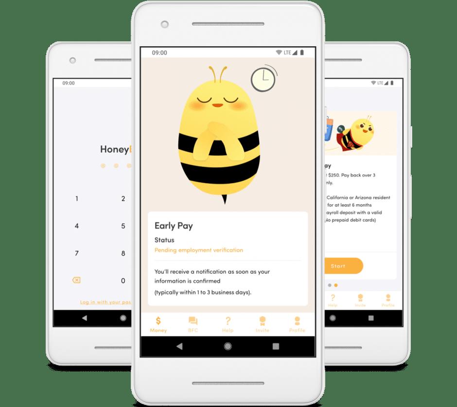 Fintech mobile app examples - HoneyBee