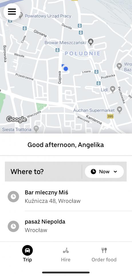 uber mcommerce app