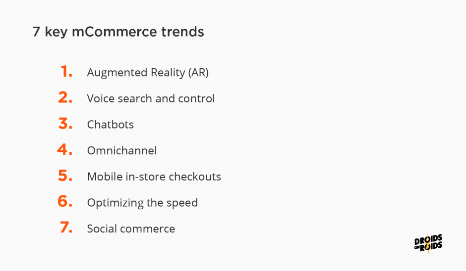 7 mCommerce trends that will shape the future of mobile commerce