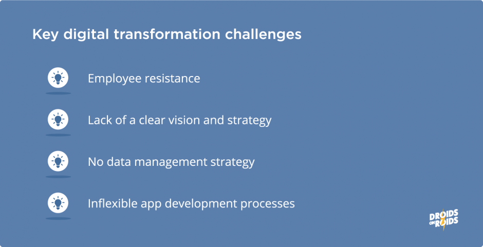 Key challenges of digital transformation