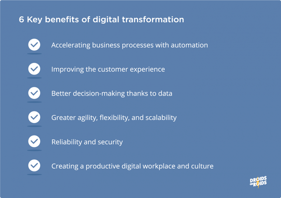 Key benefits of digital transformation