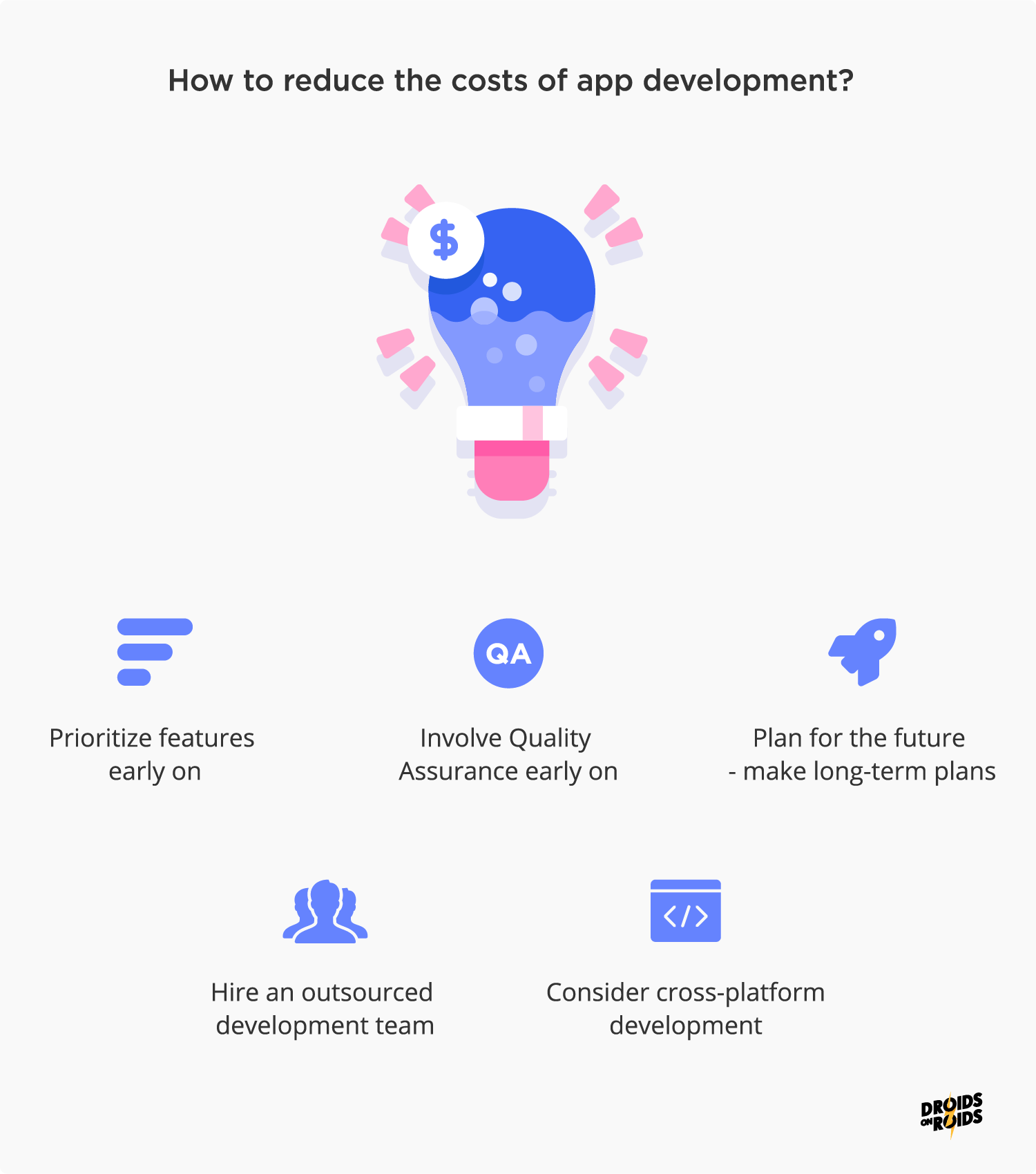 how to reduce app development cost?