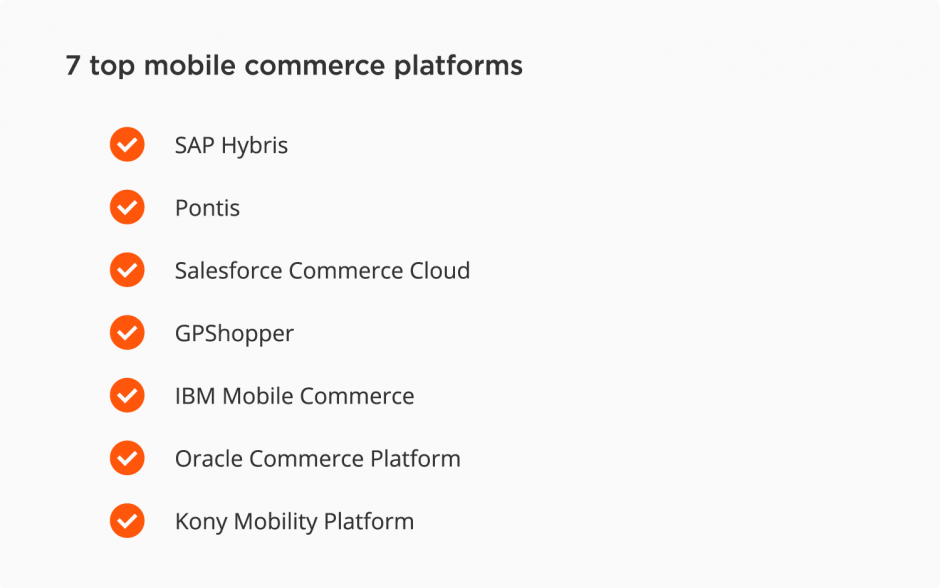 Top mobile commerce platforms