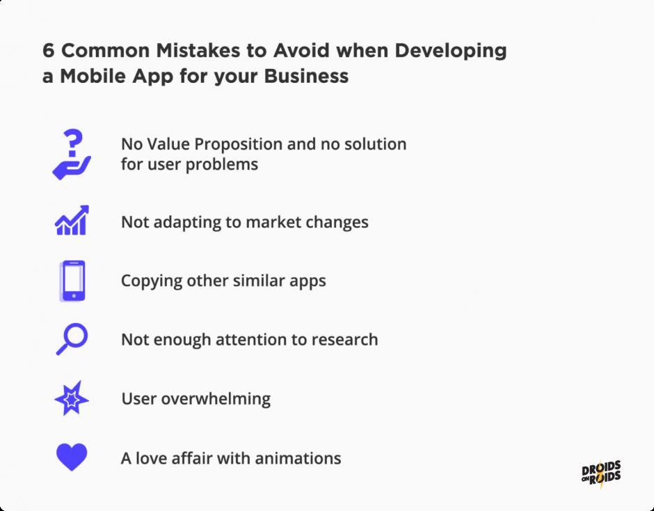 6 common mistakes in mobile app development