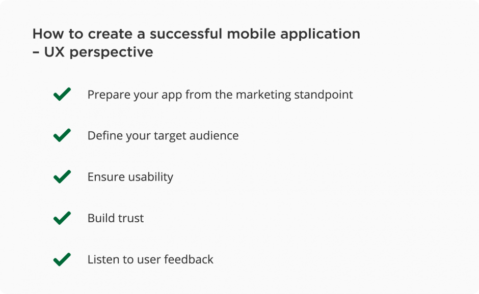 How to create a successful mobile app – UX tips