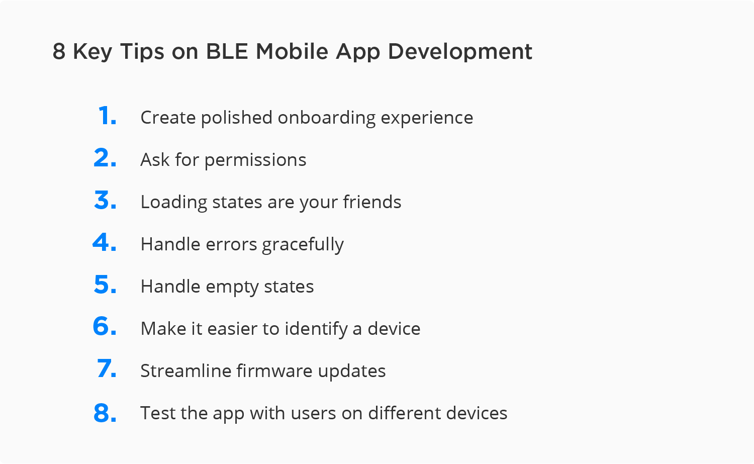 Tips on BLE mobile app development