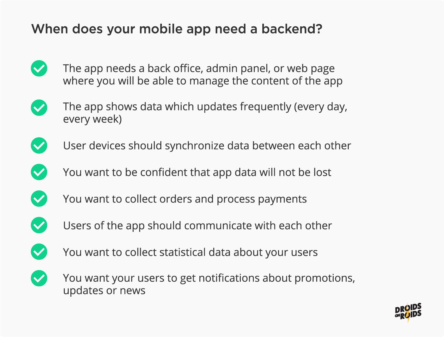 When a mobile app needs a backend?