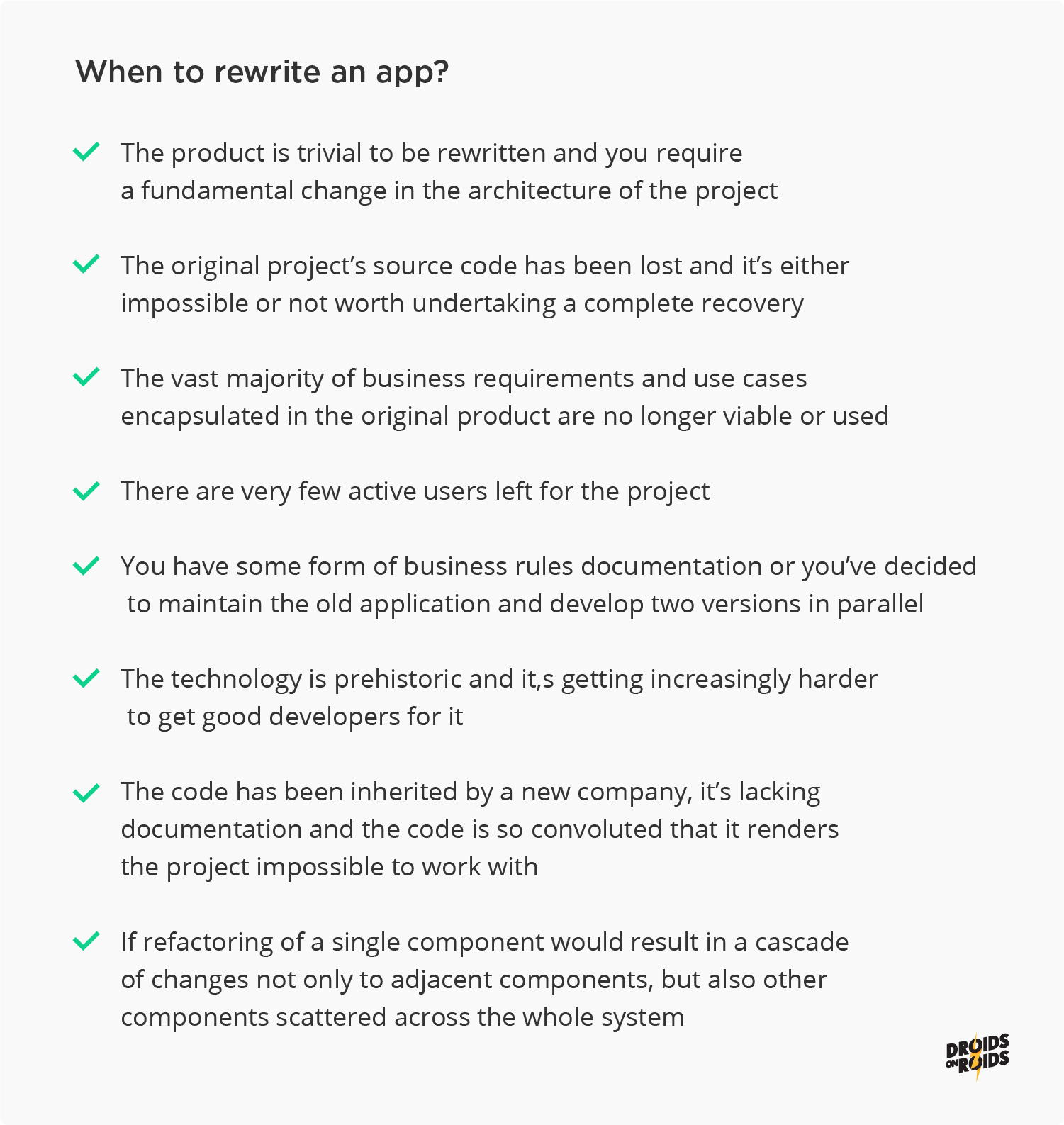 App rewriting vs refactor