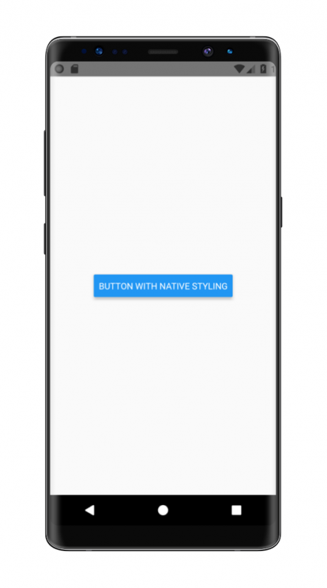 Example of Android screen made with React Native