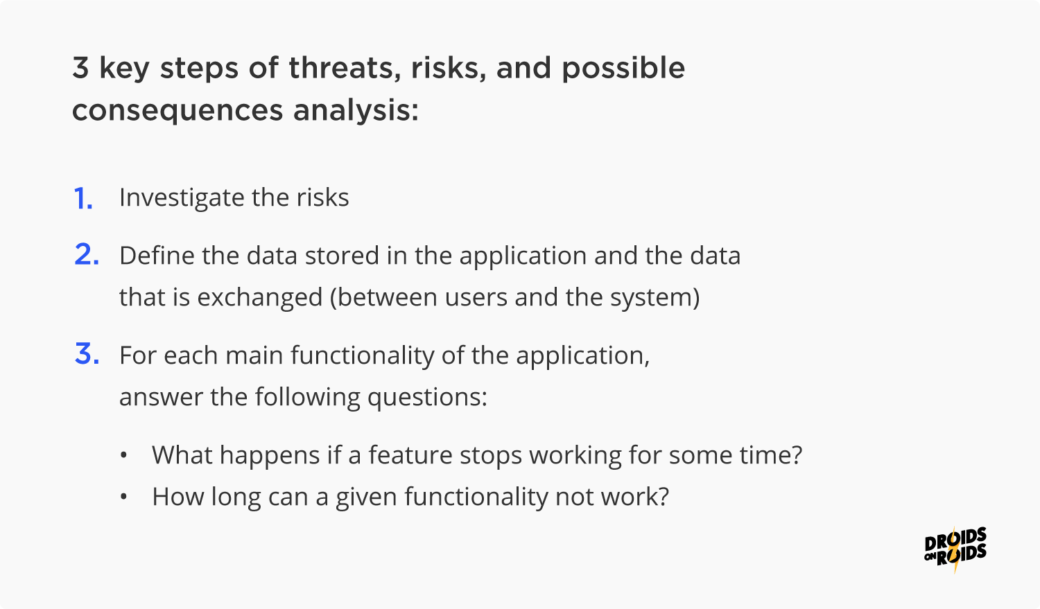 How to conduct analysis of app security threats and risks?