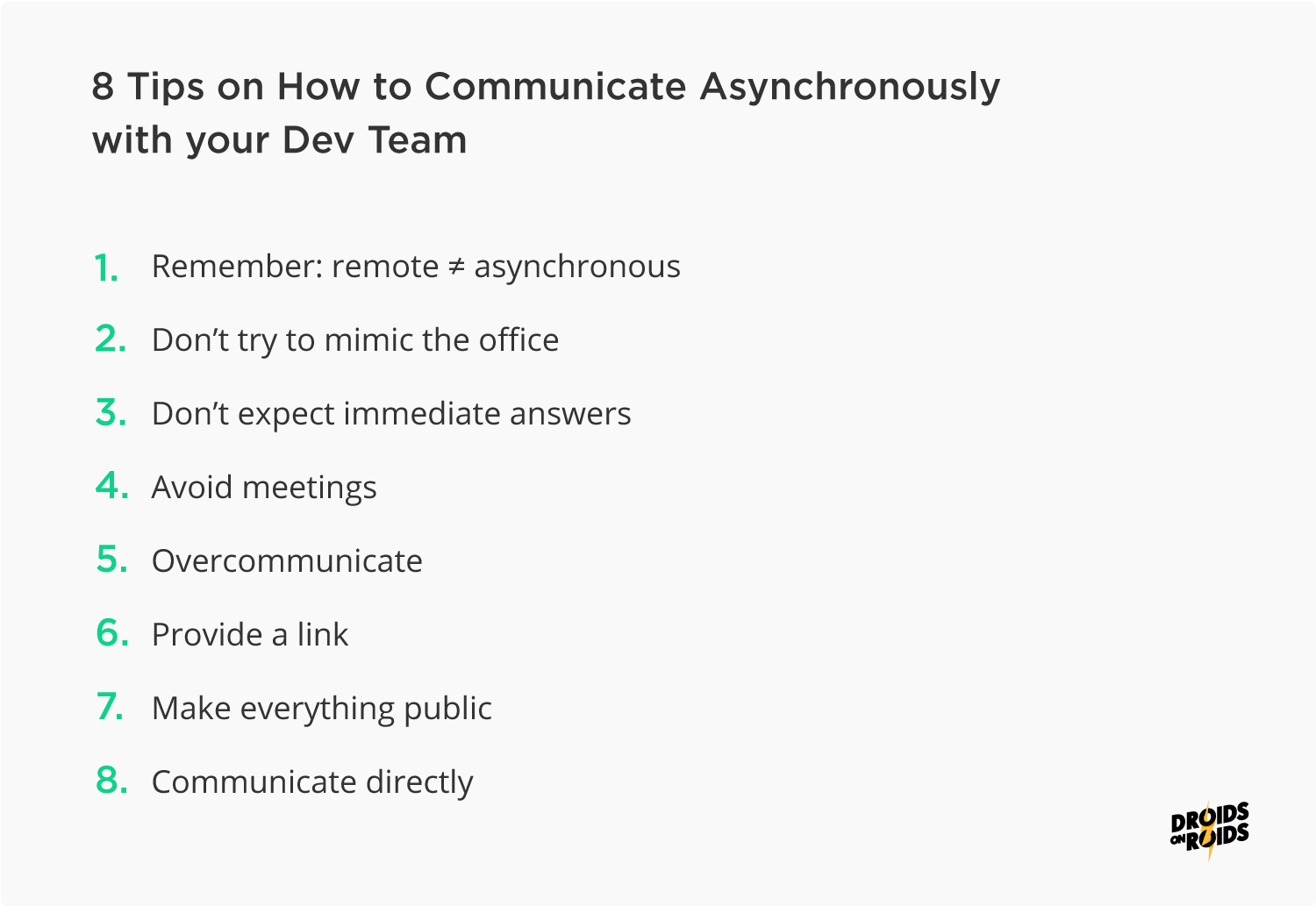 How to Communicate Asynchronously with your Development Team