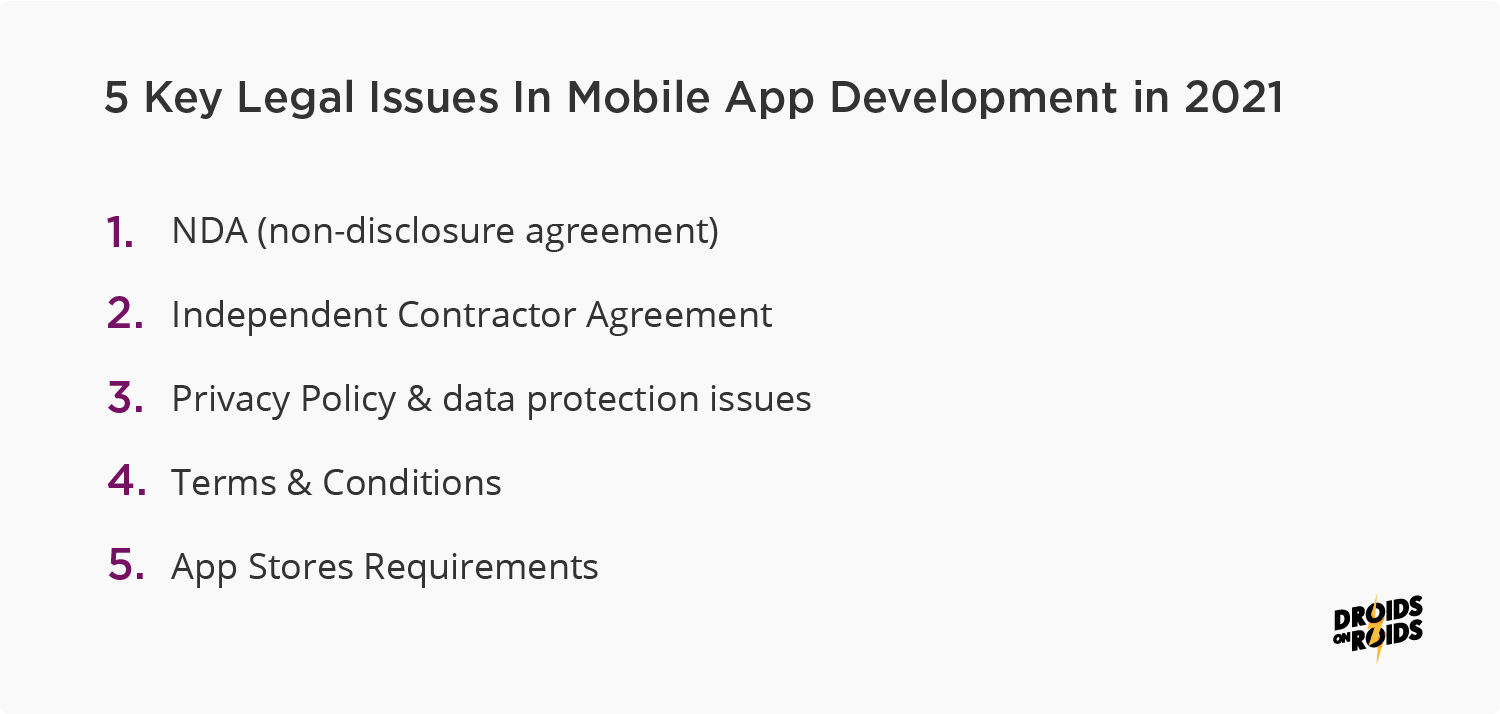 5 key legal issues in mobile app development that you should consider as an App Owner